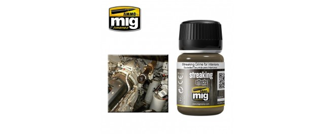 AMMO by Mig A.MIG-1200 Потёки Streaking Grime for Interiors