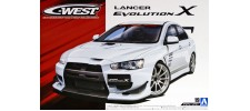 Aoshima 53201 Модель автомобиля C-West Lancer Evolution X 2007 (53201)